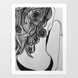 Back turned Art Print