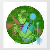 monster high Art Prints featuring Porter Geiss Monster High  by Kawaii-Bells