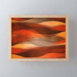 """Sea of sand and caramel waves"" Framed Mini Art Print"