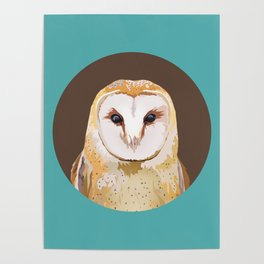 Endless Gaze: Barn Owl Poster