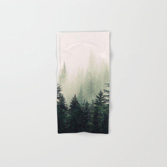 Foggy Pine Trees Hand & Bath Towel