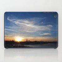 stockholm iPad Cases featuring Stockholm sunset by MrJane