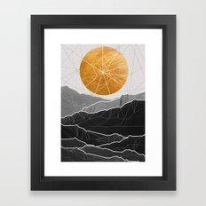 Shattered Sun Framed Art Print