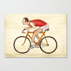 Peludo en bici Canvas Print