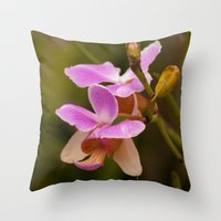 orchid Throw Pillows featuring Orchid by Julio O. Herrmann