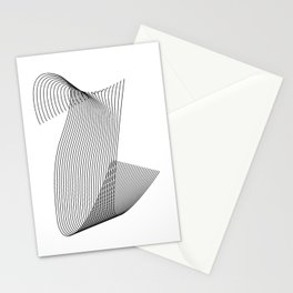 """Linear Collection"" - Minimal Letter U Print Stationery Cards"