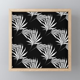Tropical Leaves Palmetto Fronds Framed Mini Art Print
