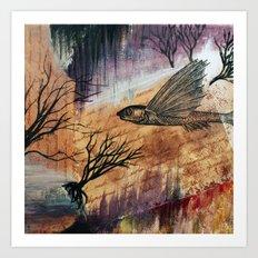 Literary Flying Fish Art Print