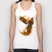 phoenix Tank Tops featuring Phoenix by Barruf