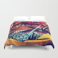 crane Duvet Covers featuring Crane  by Francessca.n.Angel