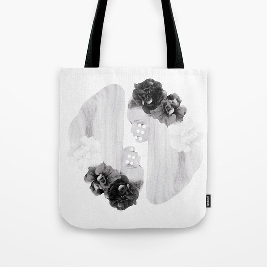 selene and eos (black and white) Tote Bag