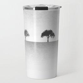 Tree Artwork Grey And Black Landscape Travel Mug