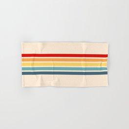 Takaakira - Classic Rainbow Retro Stripes Hand & Bath Towel