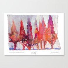 Cipressi Canvas Print