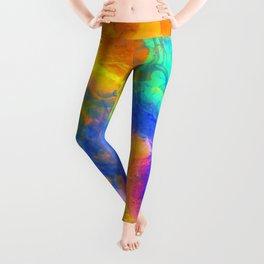 Spilt Rainbow - Abstract, watercolour art / watercolor painting Leggings