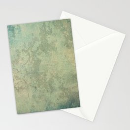 a bright, colorful abstract piece in green, gold, and blue Metal Print Stationery Cards