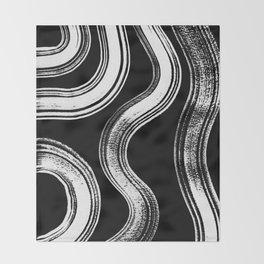 Modern Black + White Throw Blanket