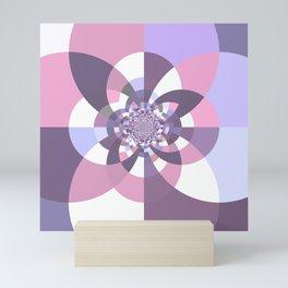Mauve Lavender Puce Kaleidoscope Mini Art Print