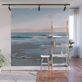Sunset surf Wall Mural