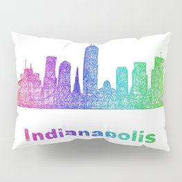Rainbow Indianapolis skyline Pillow Sham