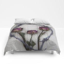 Three dried Roses II Comforters