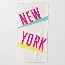 New York Beach Towel