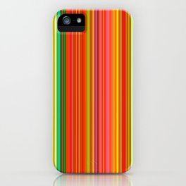 Rainbow Glowing Stripes iPhone Case