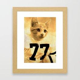 Baseball Kitten #1 Framed Art Print