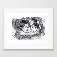 tegan and sara Framed Art Prints featuring Tegan & Sara by JenHoney