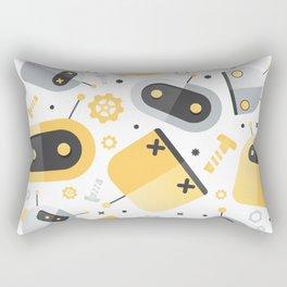 Attack of the Robots: Yellow Rectangular Pillow