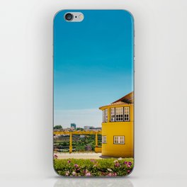 Yellow house with a view iPhone Skin