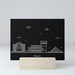 Dublin Minimal Nightscape / Skyline DrawingDublin Mini Art Print