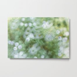 Flowers & Swirl Metal Print