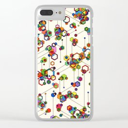 Connected Clusters Clear iPhone Case