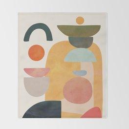 Modern Abstract Art 70 Throw Blanket
