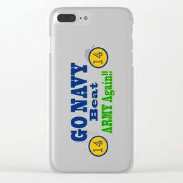 Go Navy, Beat Army - AGAIN! Clear iPhone Case