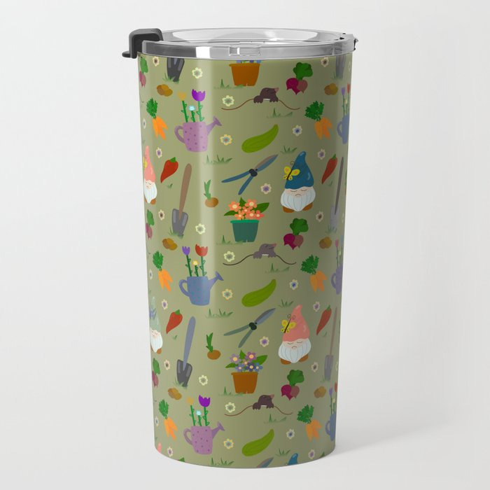cute gardening pattern Travel Mug