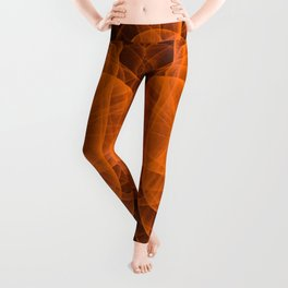 Eternal Rounded Cross in Orange-Brown Leggings
