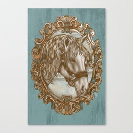 Ornate Horse Portrait Canvas Print