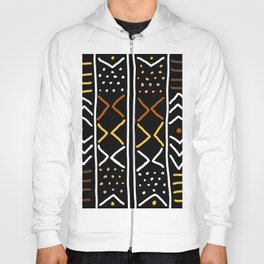 Abstract African Mudcloth Hoody