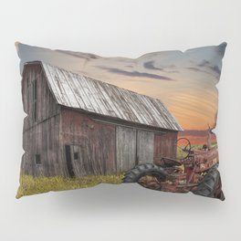 Abandoned Farmall Tractor and Barn Pillow Sham