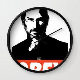 Obey Steve Jobs Wall Clock