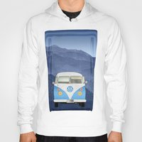 volkswagen Hoodies featuring Volkswagen Bus by Aquamarine Studio