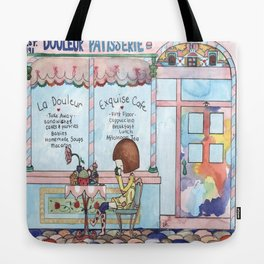 Douleur Cafe Tote Bag