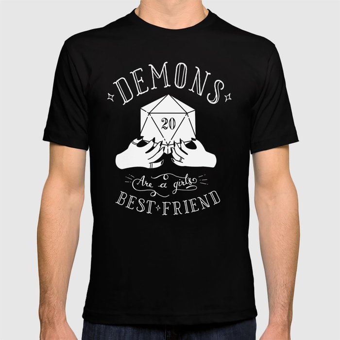 7356ced64 Demons Are A Girl's Best Friend T-shirt by jameelaillustration   Society6