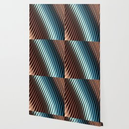 Stripey Pins Teal & Taupe - Fractal Art Wallpaper
