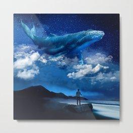 Night Whale Metal Print