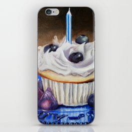 Celebration In Blue Cupcake Painting iPhone Skin