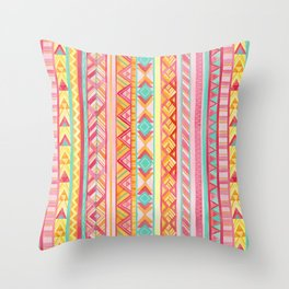 Summer Sun // Geometric Watercolor Throw Pillow