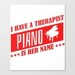 Piano Pianist Music Teacher Jazz Blues Canvas Print